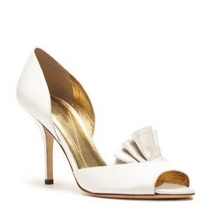 Kate Spade 'Chrisette' heel--ivory/satin